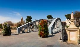 Bridge over Segura river called Puente Nuevo Stock Photo