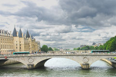 Bridge over the Seine. Paris. Royalty Free Stock Photography
