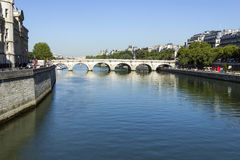 Bridge over Seine, Paris Stock Photo