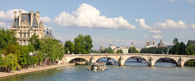 Bridge Over the Seine, Paris France Royalty Free Stock Photos