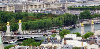 Bridge over Seine river Royalty Free Stock Photo