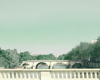 Bridge over the Seine River Stock Photography