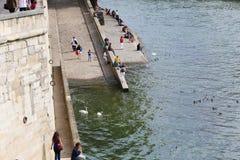 Bridge over the Seine river, Paris Royalty Free Stock Photo