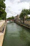 Bridge over the Seine river, Paris Royalty Free Stock Image