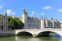 Bridge over the Seine river, Paris Royalty Free Stock Photos