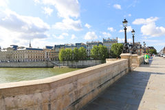 Bridge over the Seine river, Paris Stock Image