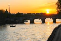 Bridge over the Seine river, Paris Stock Photo
