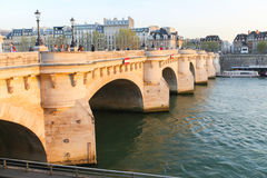Bridge over the Seine river, Paris Stock Photo