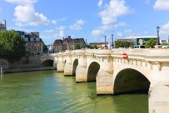 Bridge over the Seine river, Paris Stock Photos