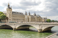 Bridge over Seine River royalty free stock photography