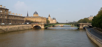 Bridge Over Seine River Royalty Free Stock Image