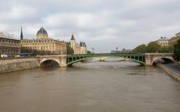 Bridge Over the Seine Stock Photography