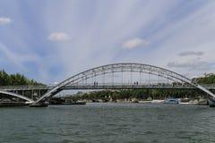 The bridge over seine river in paris Royalty Free Stock Image