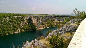 Bridge over the shotover river, Croatia royalty free stock image