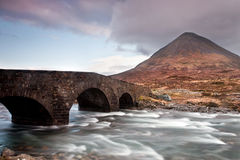 Bridge over the Sligachan Stock Images
