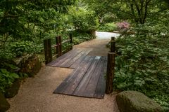 A Bridge Over a Small Stream Stock Images