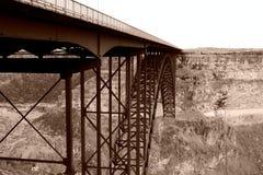 Bridge over Snake River. Metal bridge over snake river in Twin Falls Idaho royalty free stock photography