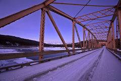 Bridge over South Saskatchewan Royalty Free Stock Photo