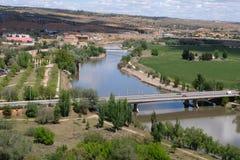 Azarquiel Bridge crossing the Tagus River in Toledo royalty free stock photos
