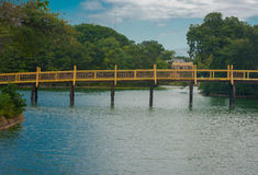 Bridge over Spring Lake royalty free stock images