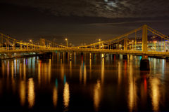 bridge over steel water στοκ εικόνες