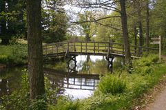 Bridge over still water Royalty Free Stock Image