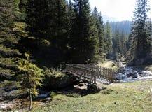 Bridge over the stream Stock Photo
