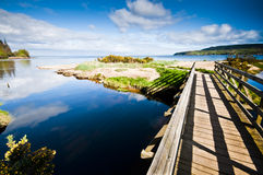 Bridge over Stream Royalty Free Stock Photography