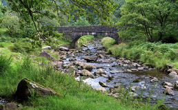 Bridge over a Stream. Stone Bridge over the River Caerfanell in the Brecon Beacons, Wales Stock Images