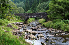 Bridge over a Stream. Stone Bridge over the River Caerfanell in the Brecon Beacons, Wales Royalty Free Stock Images