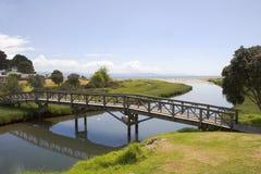 Bridge over Stream to Ocean royalty free stock image