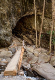Bridge over Styx Branch to Arch Rock. In the Smokies Royalty Free Stock Image