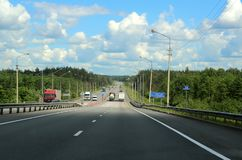 Bridge over the Sudogda River. 208 kilometers from Moscow. Stock Image