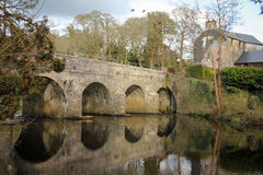 Bridge over the Sullane. Macroom. Ireland. The Bridge over the Sullane river. Castle street. Macroom. County Cork. Ireland royalty free stock photos