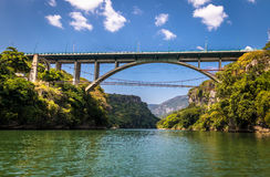 Bridge over the Sumidero Canyon - Chiapas, Mexico Royalty Free Stock Images