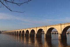 Bridge over Susquehanna in Harrisburg royalty free stock images
