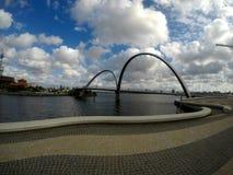 Bridge over the Swang river in Perth, Australia stock photos