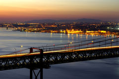 bridge over tagus Στοκ Εικόνα