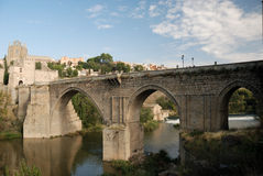 Bridge over the Tagus river in Toledo Royalty Free Stock Photography
