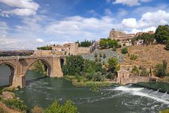 Bridge over Tagus, Toledo, Spain Royalty Free Stock Images