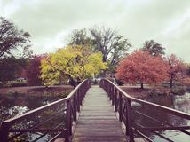 A bridge over. Taken on a stroll through a park Royalty Free Stock Image