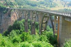 Bridge over tara river. In Montenegro Royalty Free Stock Images