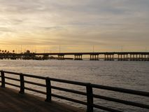 Free Bridge Over The Manatee River At Sunset Royalty Free Stock Photography - 96416447