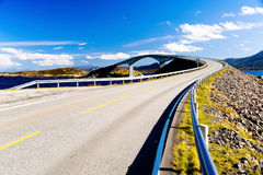 Bridge Over The River In Norway Stock Photos