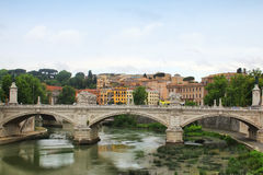 Bridge over Tiber Stock Image