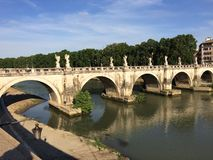Bridge over the Tiber Stock Images