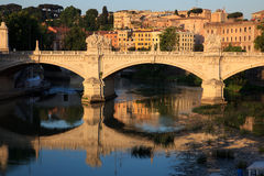 Bridge over Tiber river Royalty Free Stock Photo