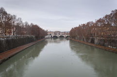 Bridge over the Tiber River Royalty Free Stock Photos
