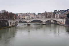 Bridge over the Tiber River Stock Images