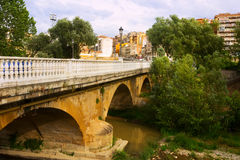 Bridge over Tiron river in Haro Stock Images